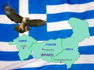 Οἱ ΕΟΖ στήν Θράκη, ἡ Μακεδονία, τά Σκόπια, κι΄ ἀπό πίσω οἱ Γερμανοί.