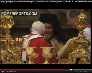 Μητροπολίτης Γαλλίας Εμαννοήλ - Πάπας Βενέδικτος